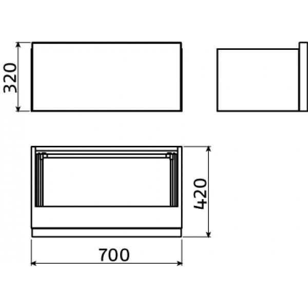 Шкаф 70 см белый  (CL/07.56.151.65)