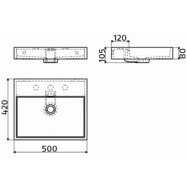Раковина 50 см подвесная (CL/02.13030)