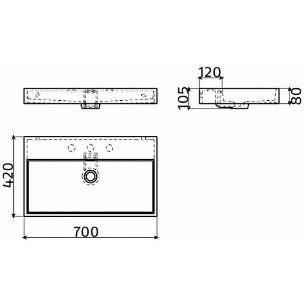 Раковина 70 см (CL/02.13032)