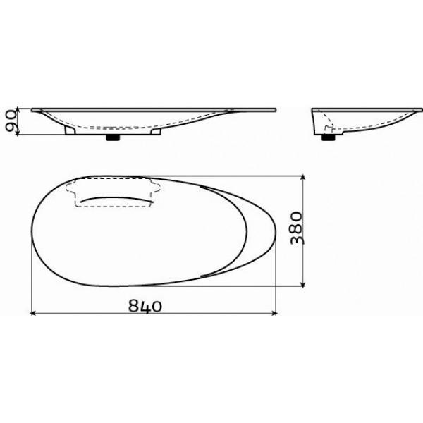Дизайнерская раковина  (CL/02.27011)