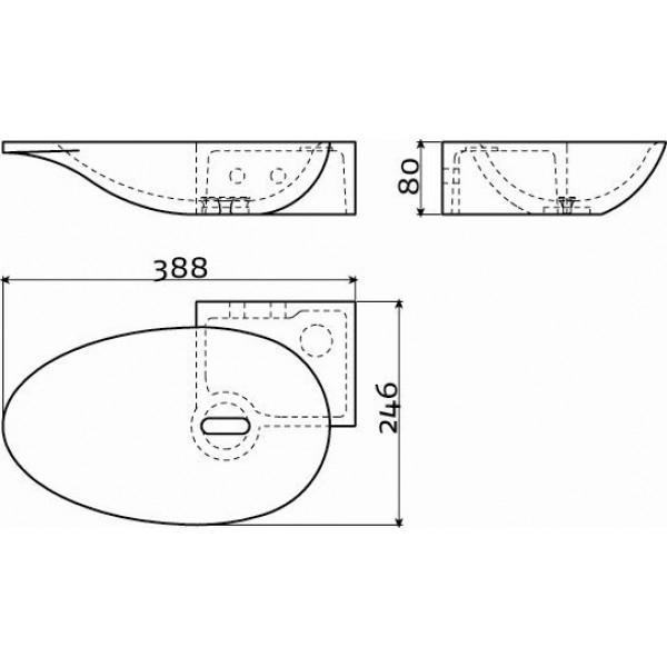 Угловой рукомойник 39 см правый (CL/03.08100)