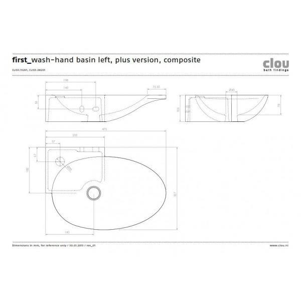 Овальная угловая раковина для ванной комнаты (CL/03.08201)