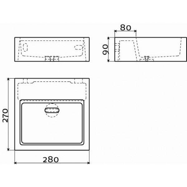 Раковина из бетона 28 см (CL/03.11011)