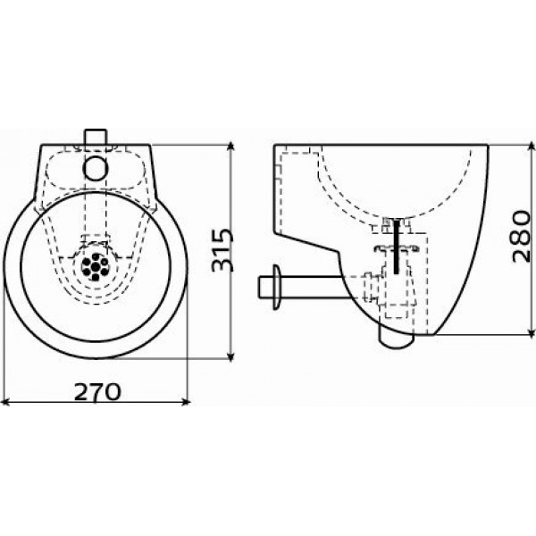 Рукомойник для ванной 27 см (CL/03.12062)