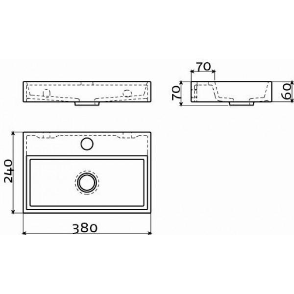 Черная раковина для ванной 38 см (CL/03.12230)