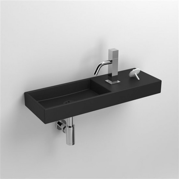 Черная раковина в туалет 56 см (CL/03.12240)