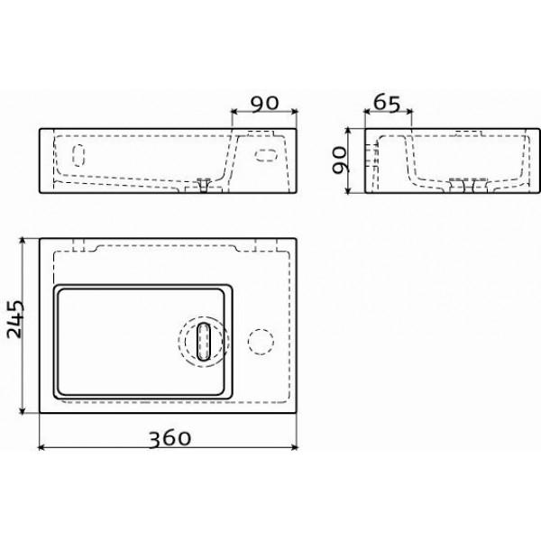 Мини раковина для туалета (CL/03.13021)