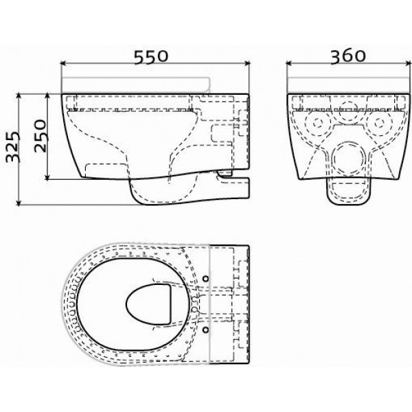 Туалет настенный  (CL/04.01010)