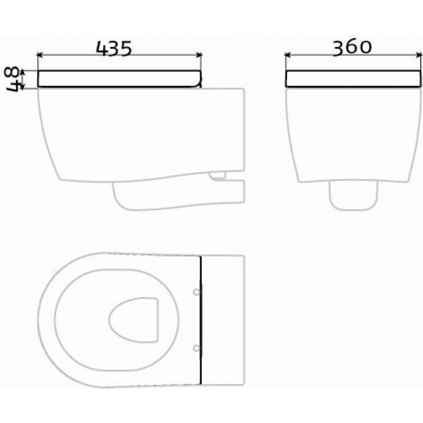 Сидение для туалета с крышкой (CL/04.06011)