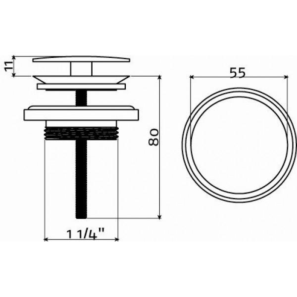 Слив для рукомойника (CL/06.51022.41)