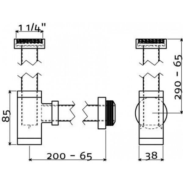 Сифон для раковин и рукомойников  (CL/06.53011.41)