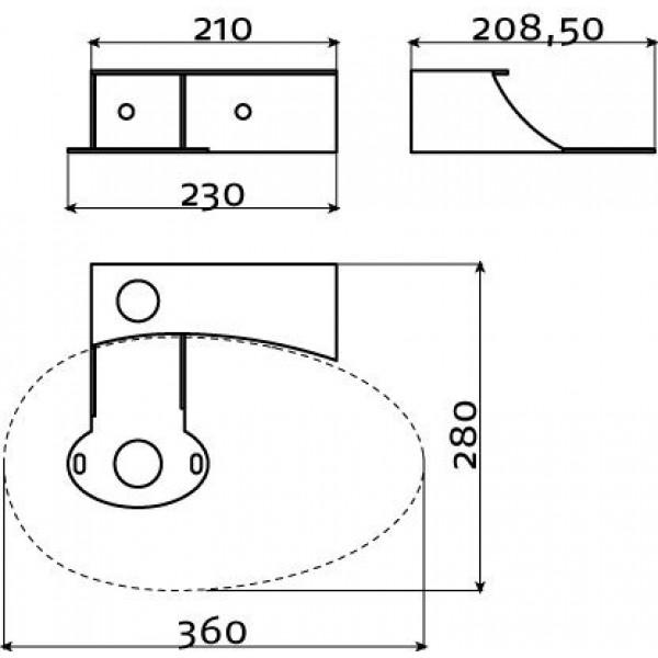 Консоль для раковины First  (CL/07.39111)