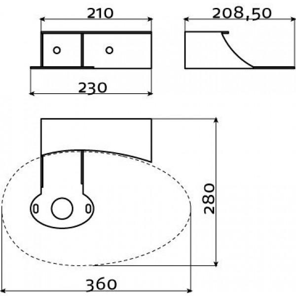 Консоль для раковины First   (CL/07.39113)