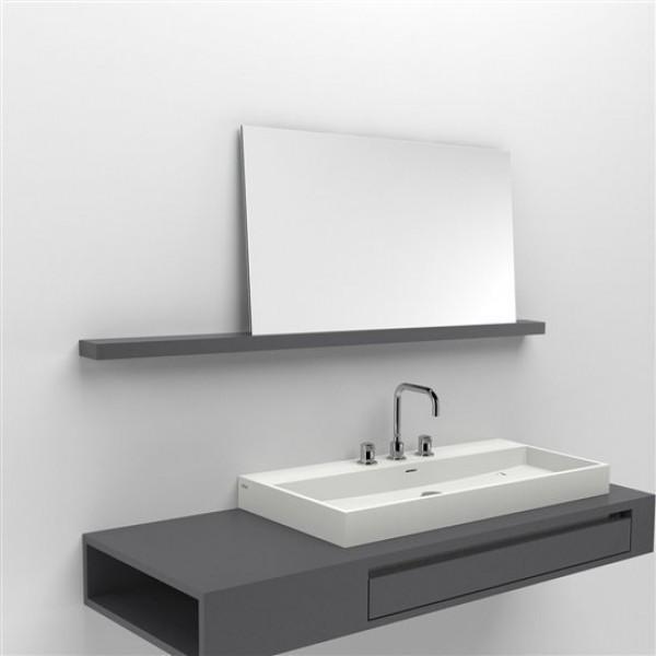 Зеркало с полкой для ванной комнаты 140 см (CL/08.52.206.51)