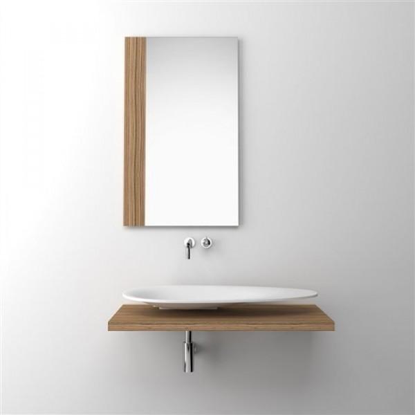 Зеркало с боковой вставкой. Шпон Зебрано (CL/08.91131)