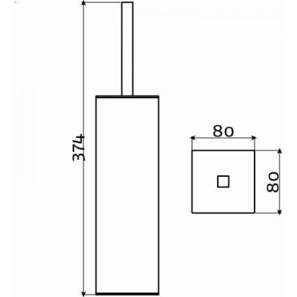 Щетка для туалета напольная (CL/09.01.121.41)