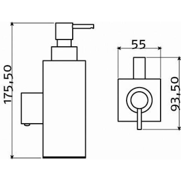 Дозатор для жидкого мыла металлический 200 мл (CL/09.01.125.41)