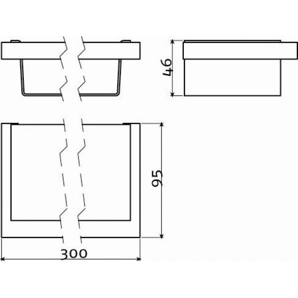 Полочка в ванную комнату  для душевых принадлежностей (CL/09.01.127.29)