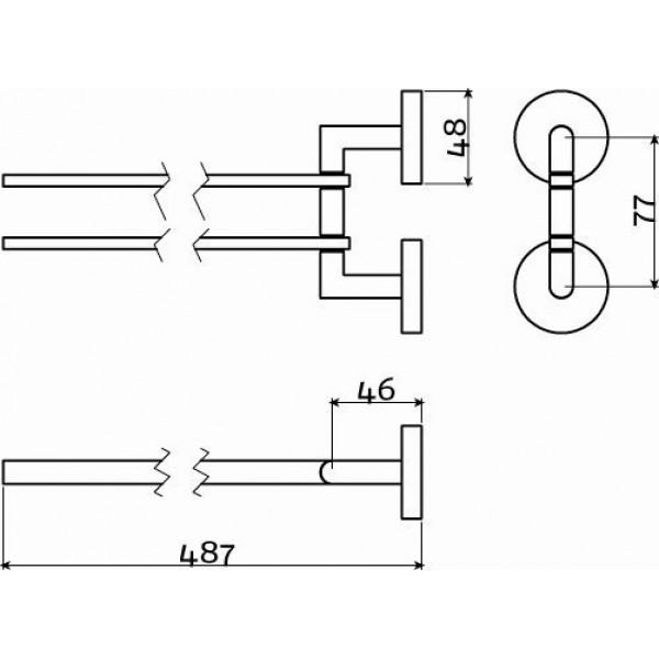 Поворотный держатель для полотенец в ванную (CL/09.02055)