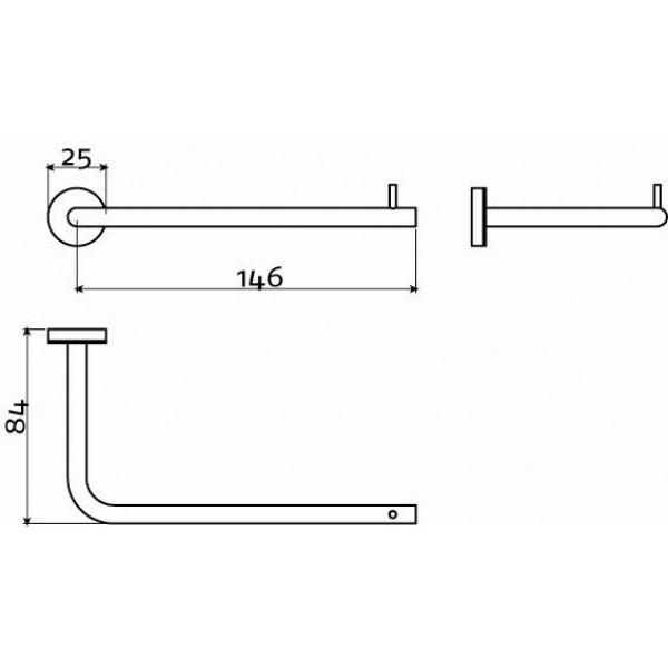Держатель для туалетной бумаги без крышки (CL/09.03030.41)