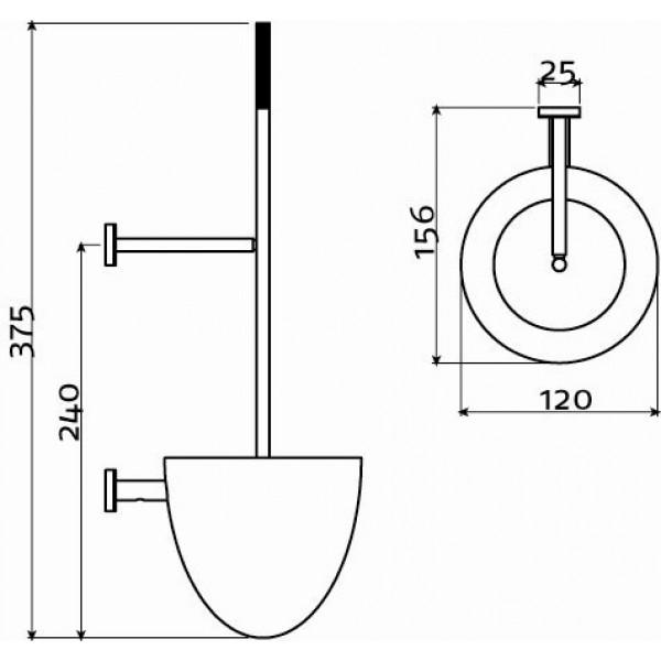 Ерш для унитаза настенный (CL/09.03041.41)