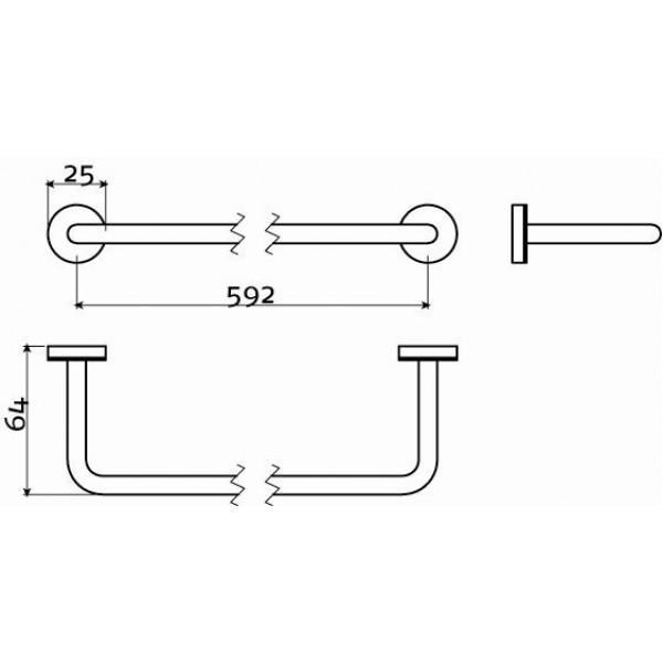 Держатель для полотенца 62 см  (CL/09.03053.41)