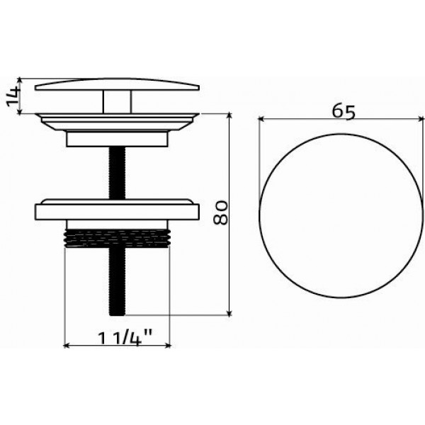 Слив для раковины (HI/PO10.27)