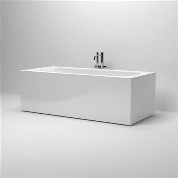 ванна прямоугольная отдельностоящая на ножках, с переливом, со сливной гарнитурой 178 см (IB/05.40105)