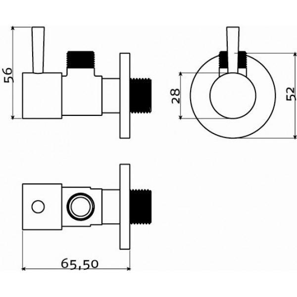 Угловой кран (IB/06.45001)