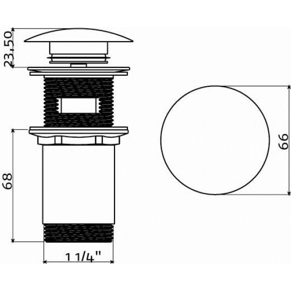 Слив для раковины с системой stop/go (IB/06.51001)