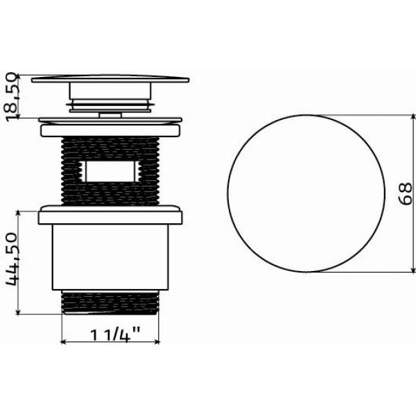 Слив для раковины с системой stop/go (IB/06.51003)