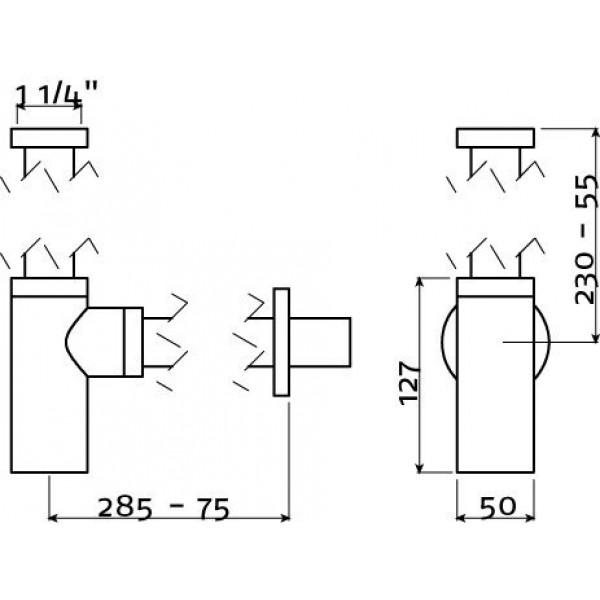 Сифон для умывальника (IB/06.53001)
