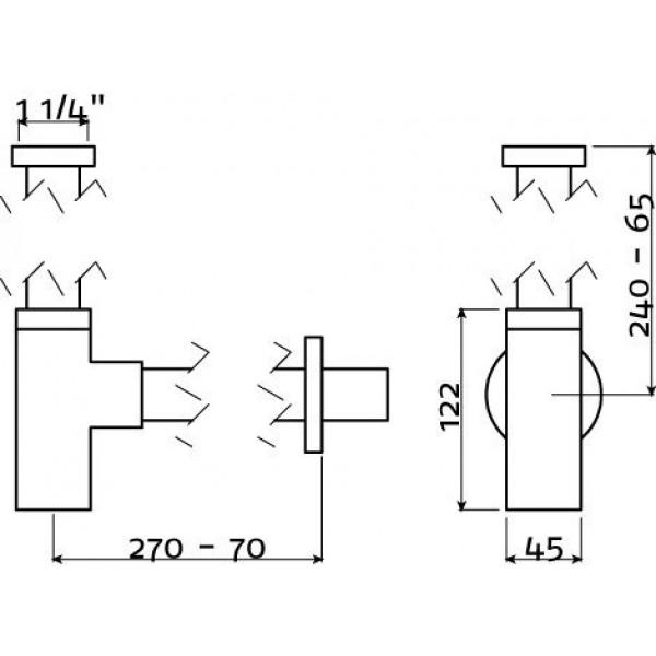 Сифон для раковины универсальный (IB/06.53011)
