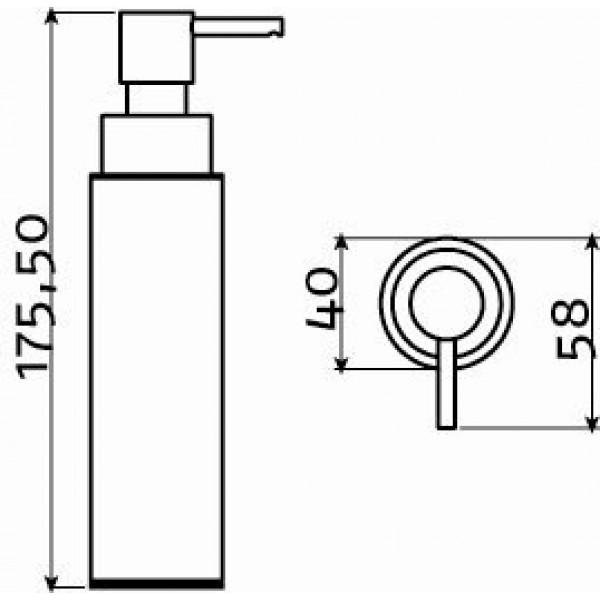 Настенный дозатор для мыла отдельно стоящий 100 мл (SJ/09.26044.41.01)