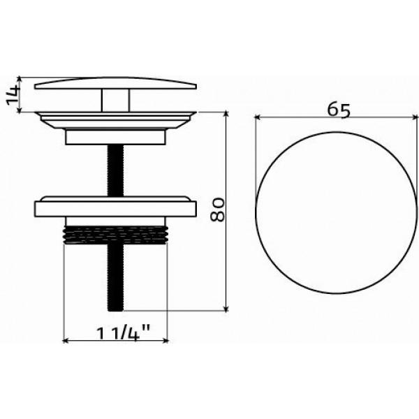 Слив для раковины (HI/PO10.30)