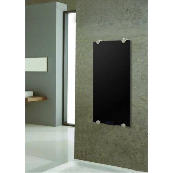 Инфракрасный обогреватель для дома настенный стеклянный 730 ватт Nero без полотенцесушителя