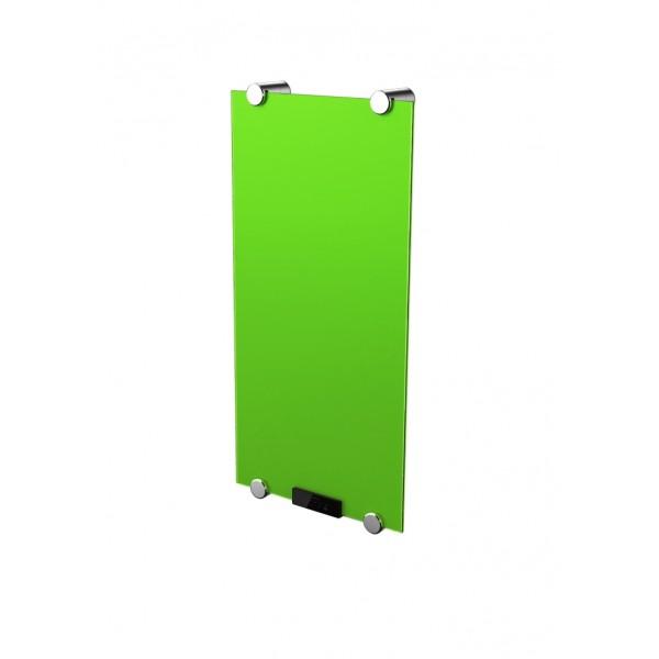 Дизайн радиатор стеклянный электрический Green без полотенцесушителя